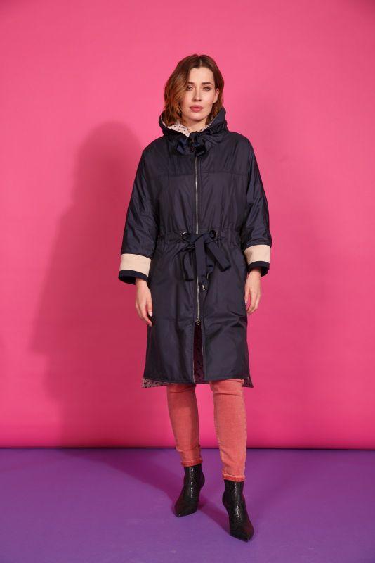 Пальто Alberto Bini Темно-синий + Бежевый