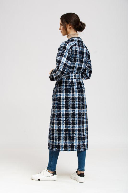Пальто Alberto Bini Синий с черным