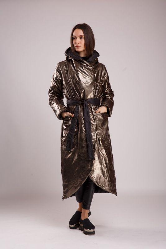 Пальто Alberto Bini Зеленый + Серый