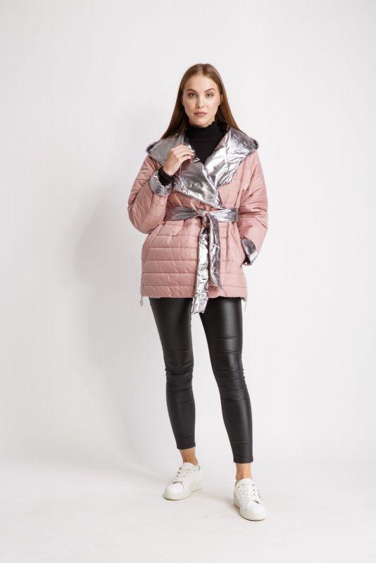 Куртка Alberto Bini Розовый с серебристым
