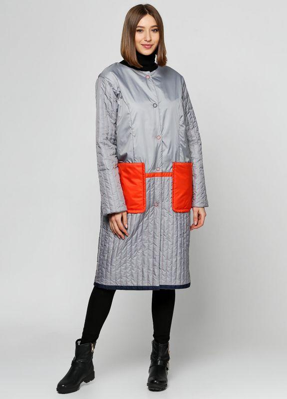 Пальто Alberto Bini Серый + Оранжевый