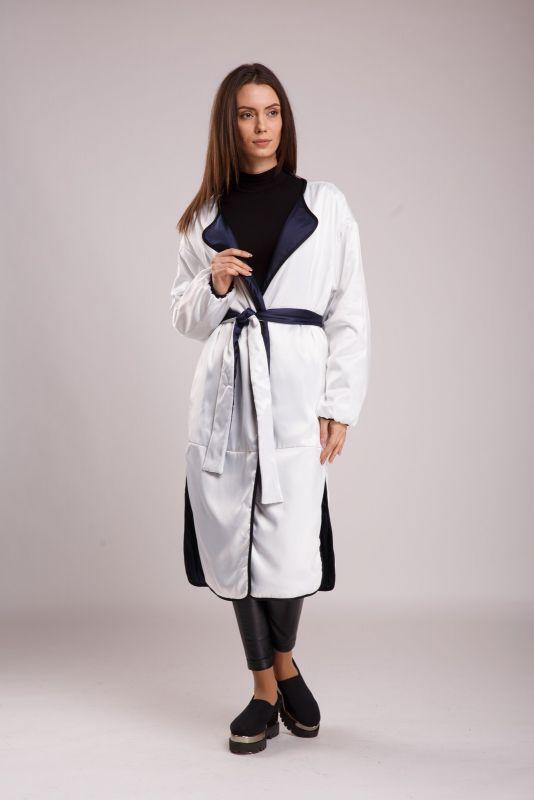Пальто Alberto Bini Белый с синим