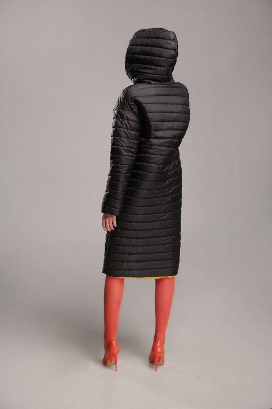Пальто Alberto Bini Черный с горчичным