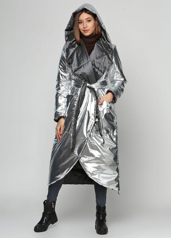 Пальто Alberto Bini Серый + Серебряный