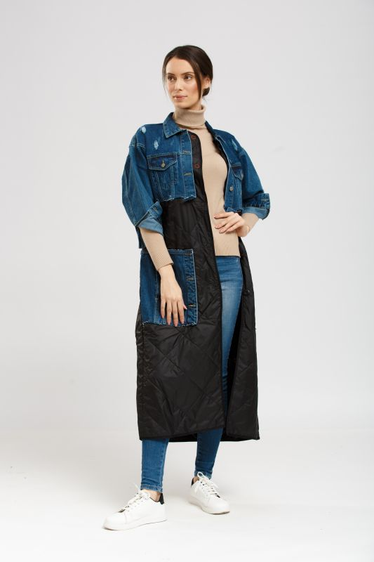 Пальто Alberto Bini Черный (джинс)