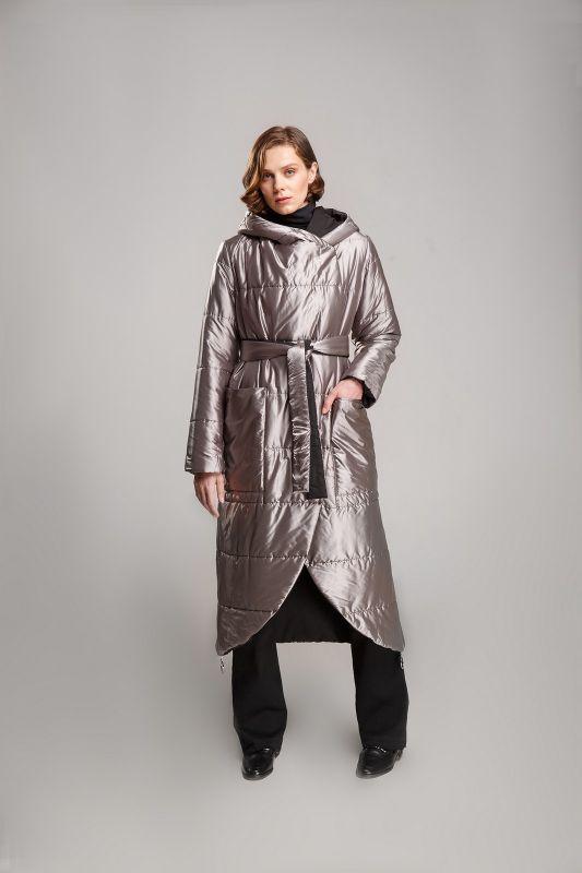Пальто Alberto Bini Черный с серебряным