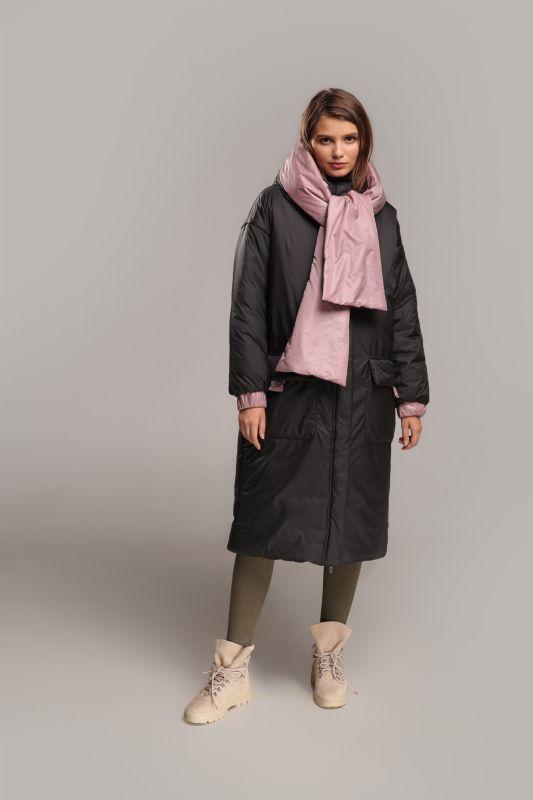 Пальто Alberto Bini Черный + Розовый