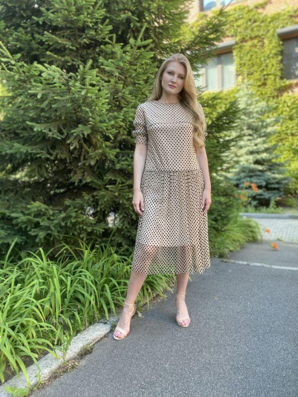 Платье Alberto Bini Бежево-черный