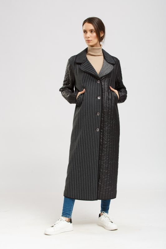 Пальто Alberto Bini Черный с серым